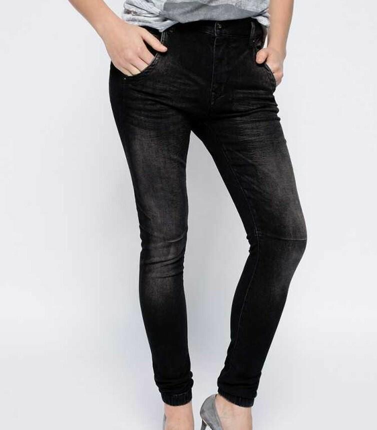 Levně Pepe Jeans dámské šedo-černé džíny Popsy