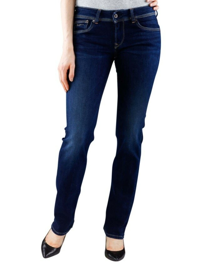 Pepe Jeans dámské modré džíny Saturn