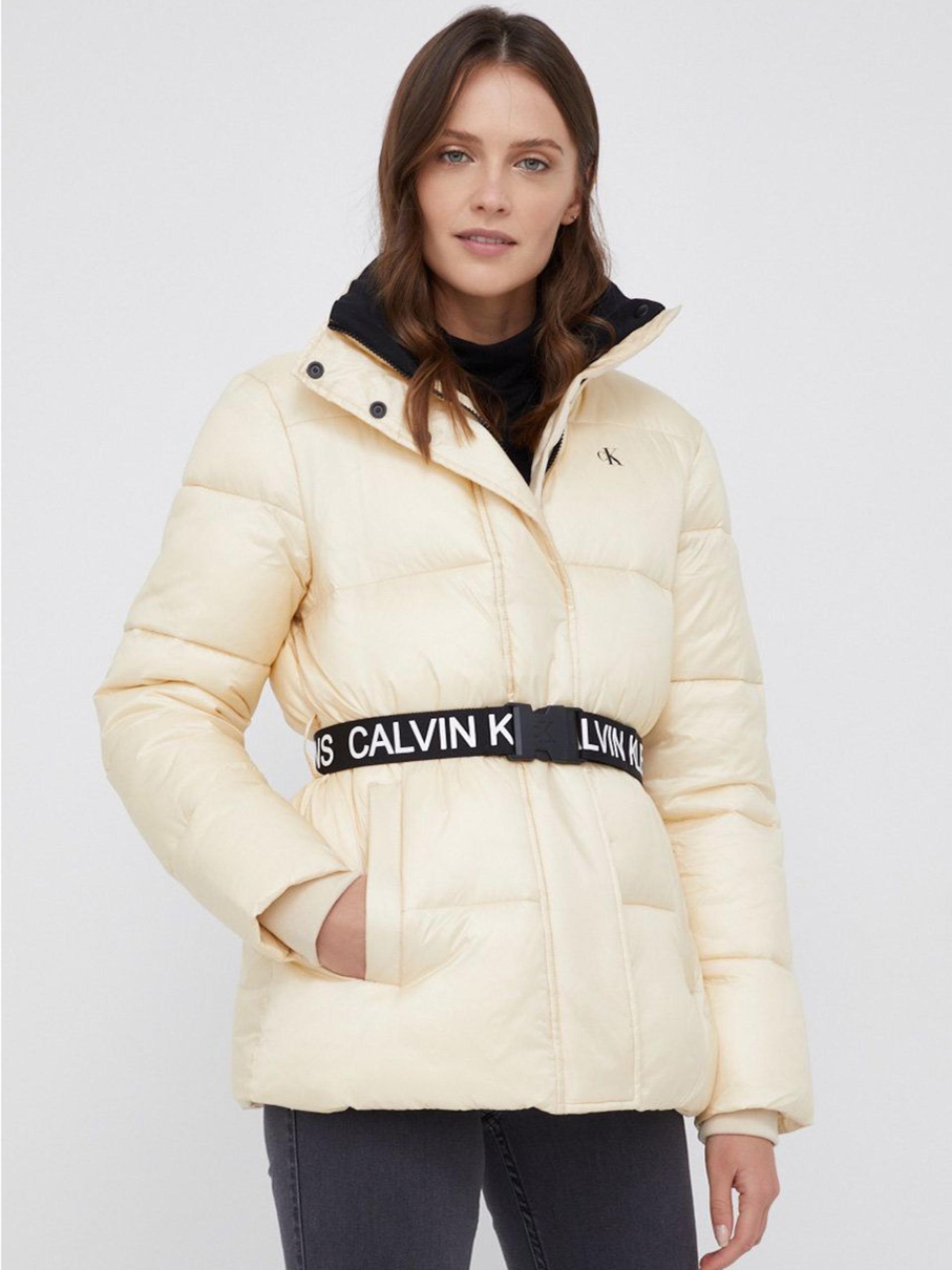 Calvin Klein dámská krémová bunda
