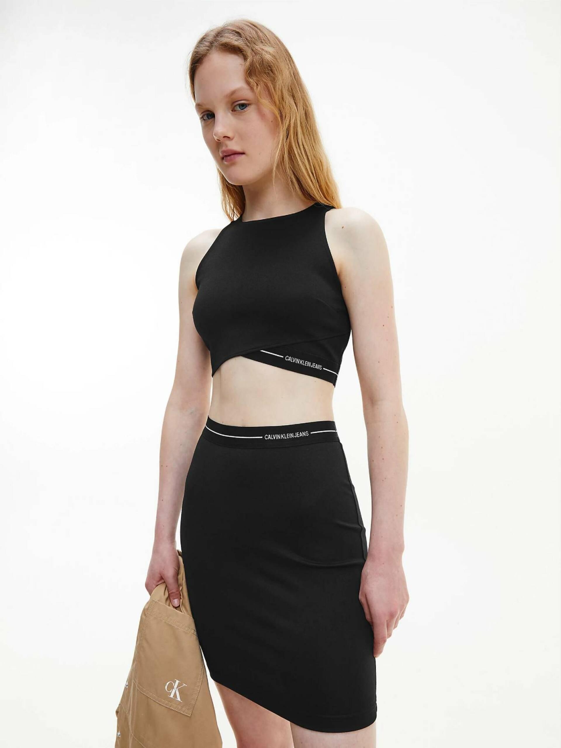 Levně Calvin Klein dámský černý top Milano - XS (BEH)