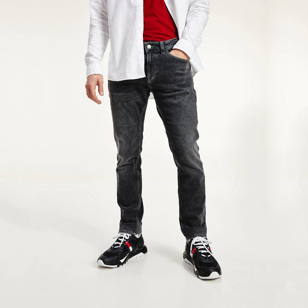 Levně Tommy Jeans pánské tmavě šedé džíny Scanton