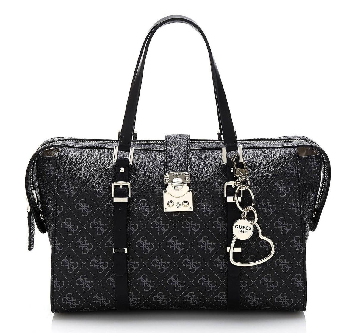 Guess dámská střední černá kabelka se vzorem - Mode.cz fdc0cc2c2a