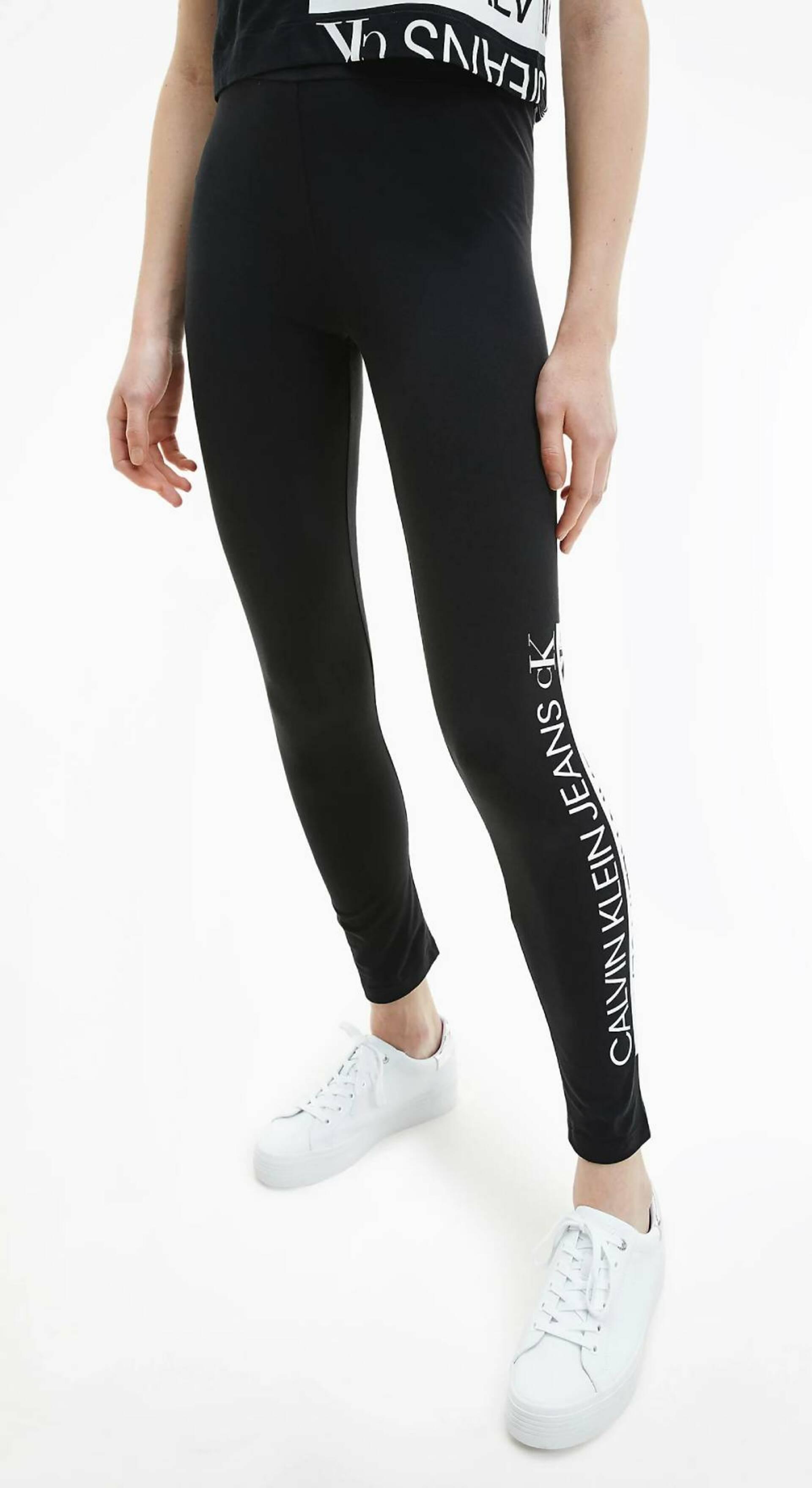 Calvin Klein dámské černé legíny - S (BEH)
