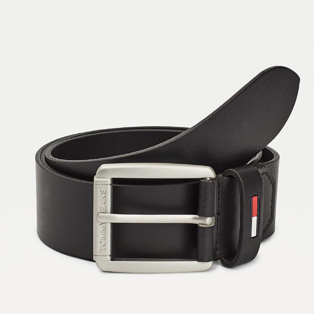 Tommy Jeans pánský černý pásek