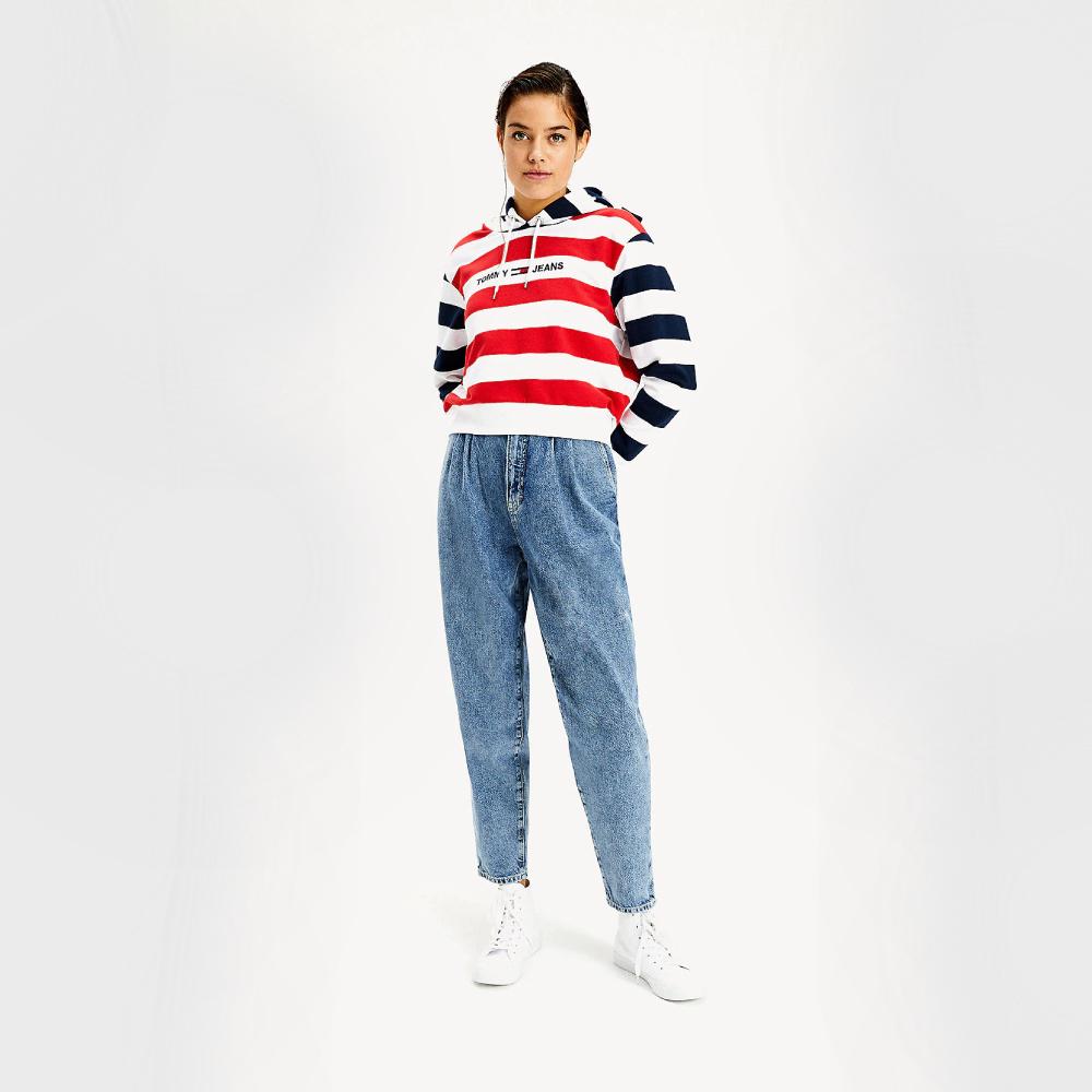 Levně Tommy Jeans dámská mikina Multistripe - M (0A6)