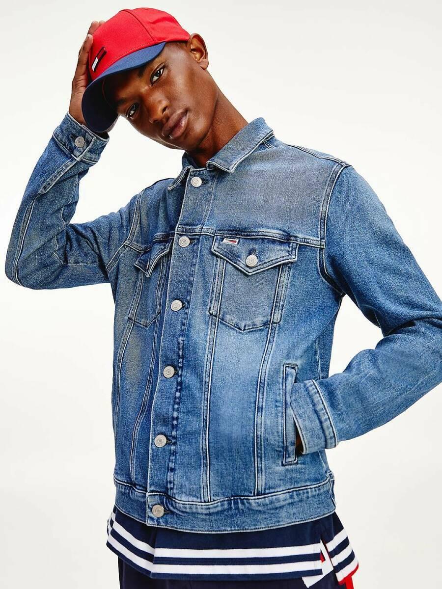 Tommy Jeans pánská džínová modrá bunda