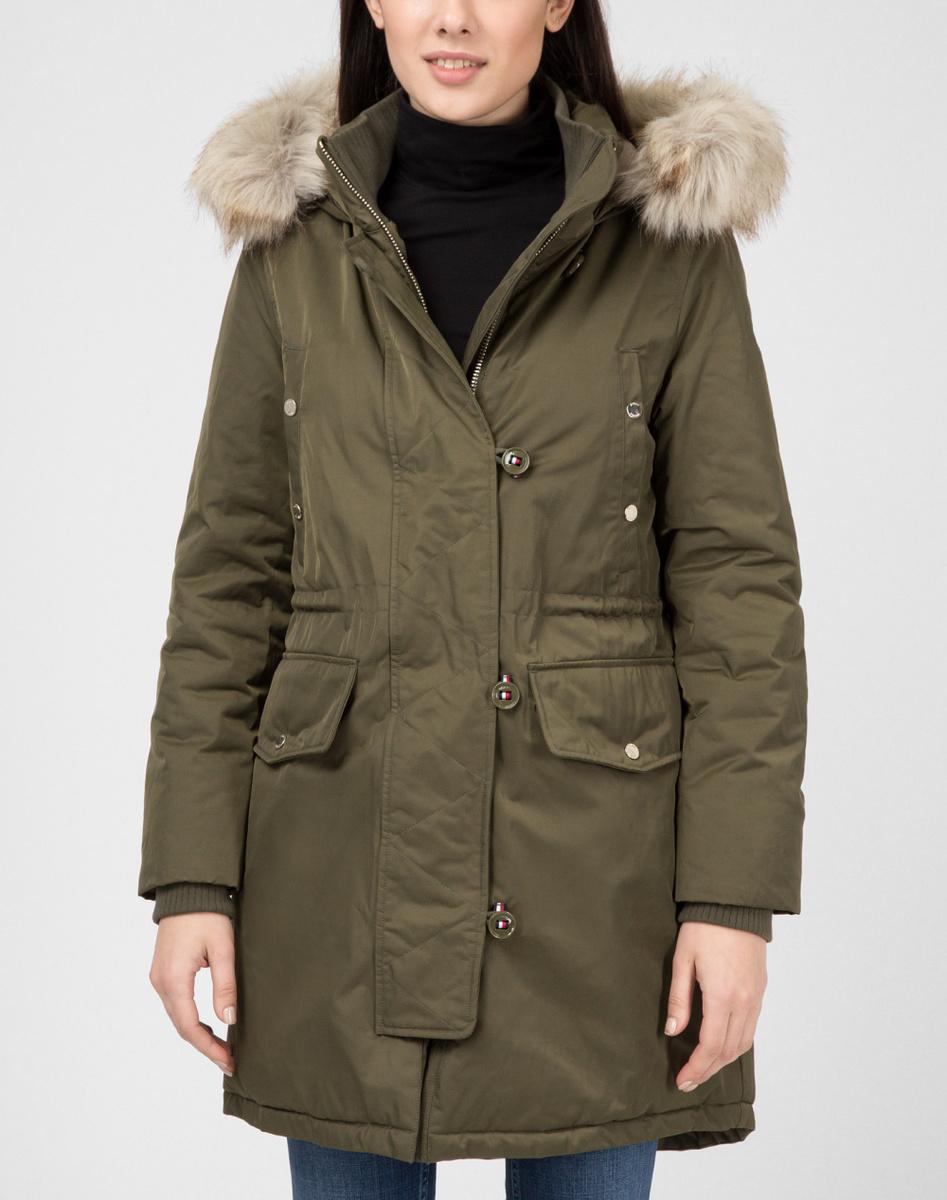 Tommy Hilfiger dámská zimní khaki parka Sarah