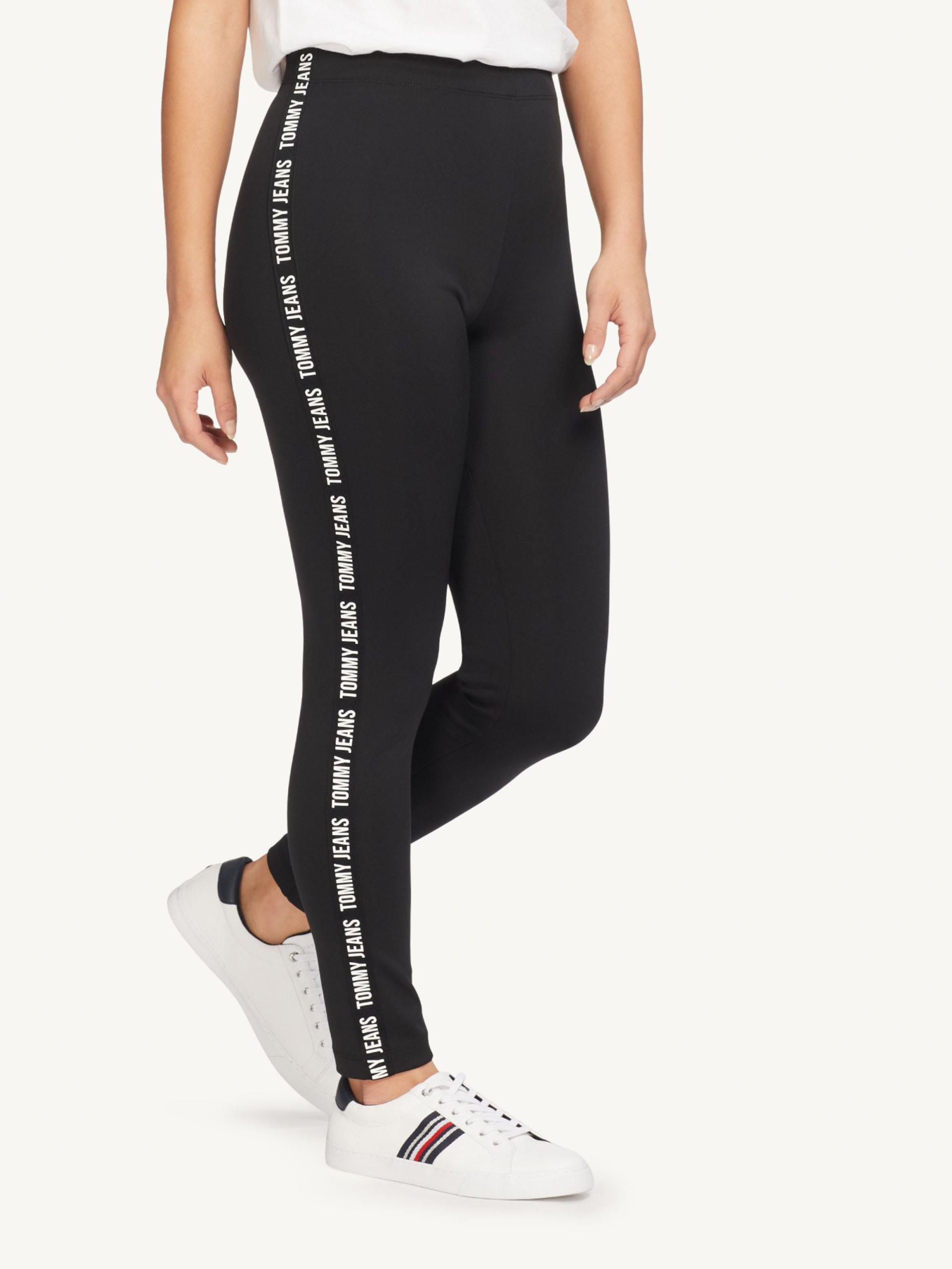 Tommy Jeans dámské černé legíny