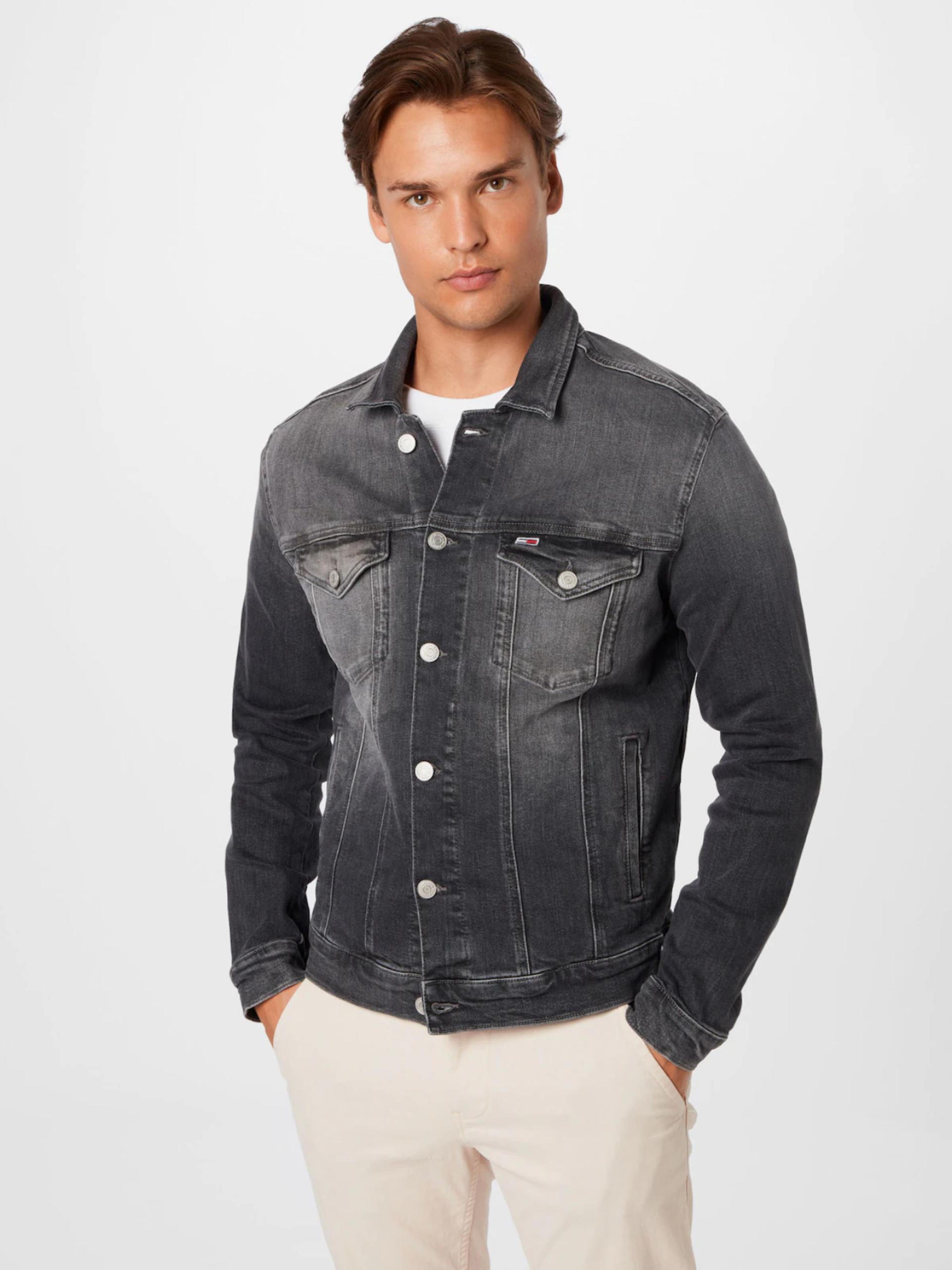 Tommy Jeans pánská šedá džínová bunda