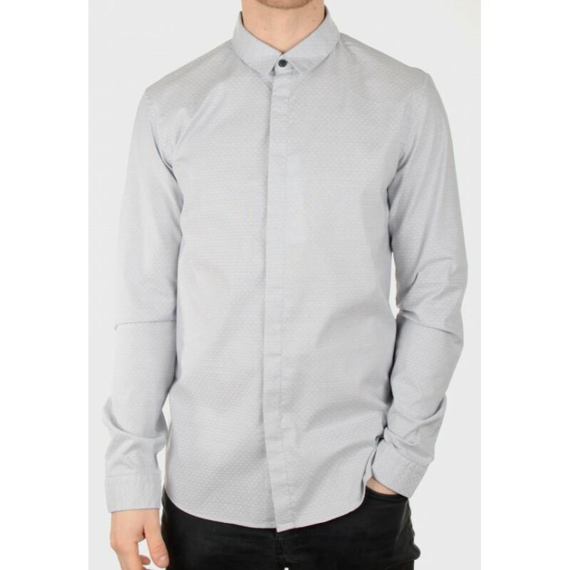 Calvin Klein pánská šedá košile Enow 4e2d25f554