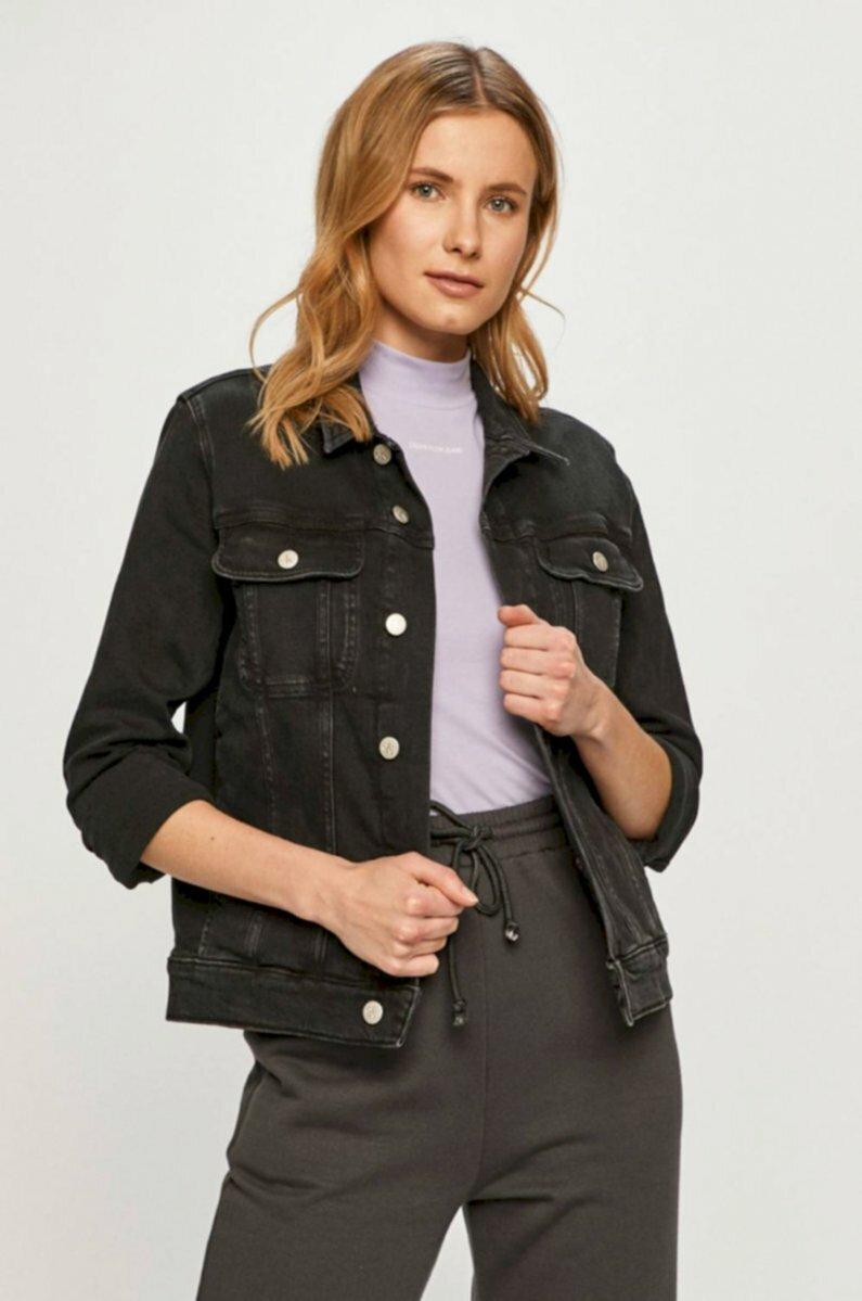 Calvin Klein dámská černá džínová bunda