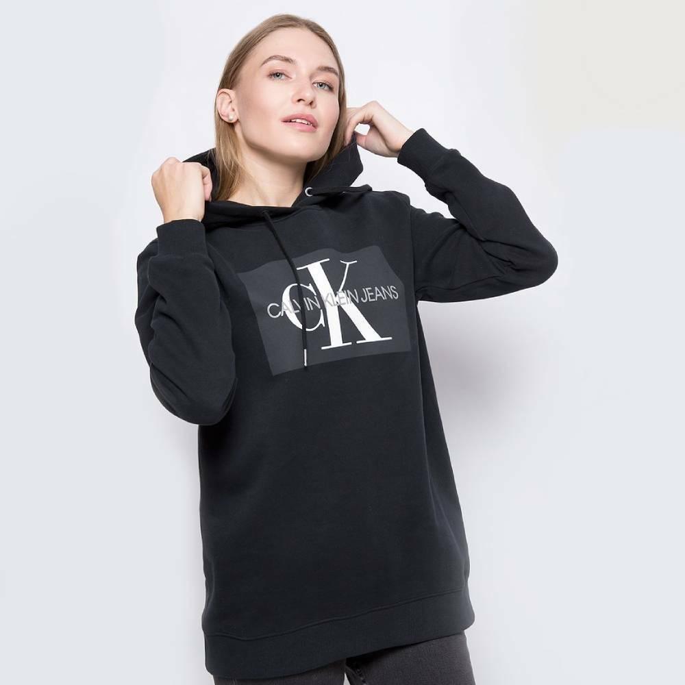 76a4deead7 Calvin Klein dámská černá mikina s kapucí Hoodie - Mode.cz