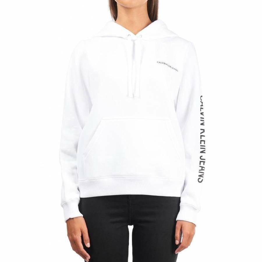 f4b1d8ef1c Calvin Klein dámská bílá mikina s kapucí Hoodie