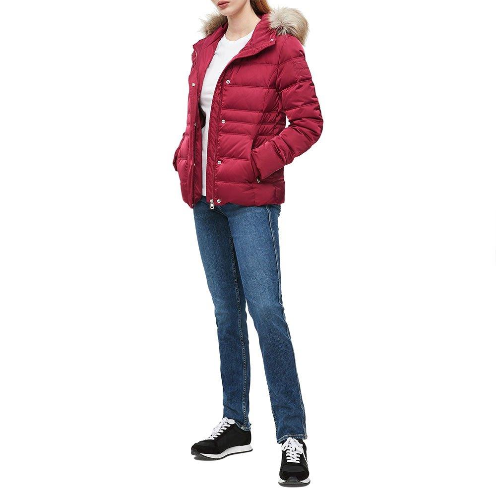 Calvin Klein dámská bordová zimní bunda