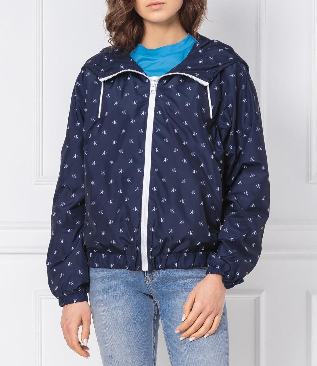 Calvin Klein dámská modrá bunda Monogram