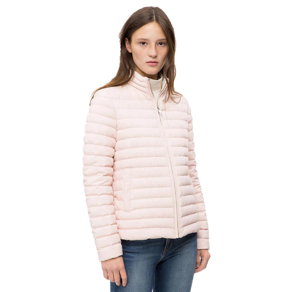 Calvin Klein dámská růžová prošívaná bunda
