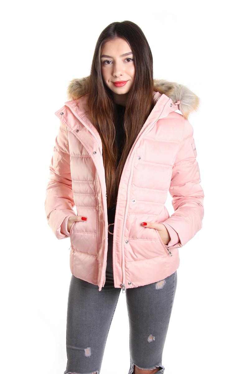 Calvin Klein dámská starorůžová zimní bunda