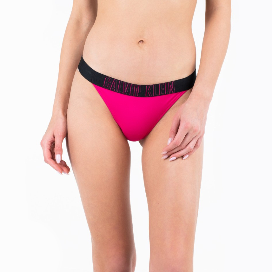 Calvin Klein dámské růžové plavkové kalhotky