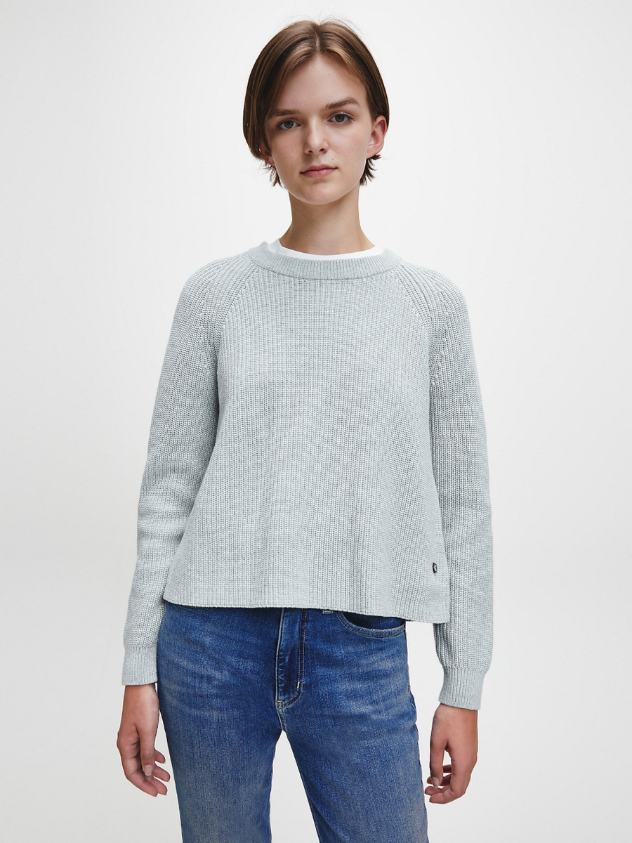 Calvin Klein dámský šedý svetr - S (P01)