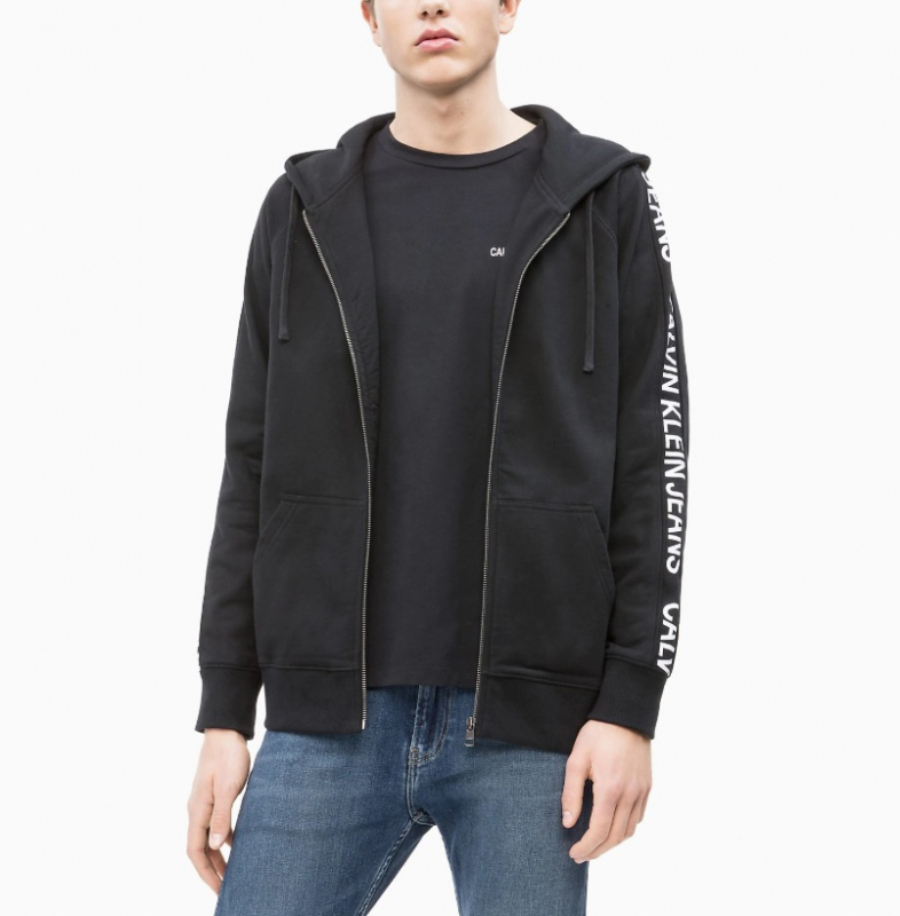 Calvin Klein pánská černá mikina na zip - XL (99)