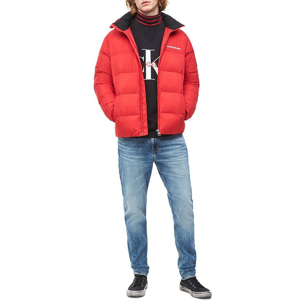 Calvin Klein pánská červená zimní bunda - L (XA9) Calvin Klein