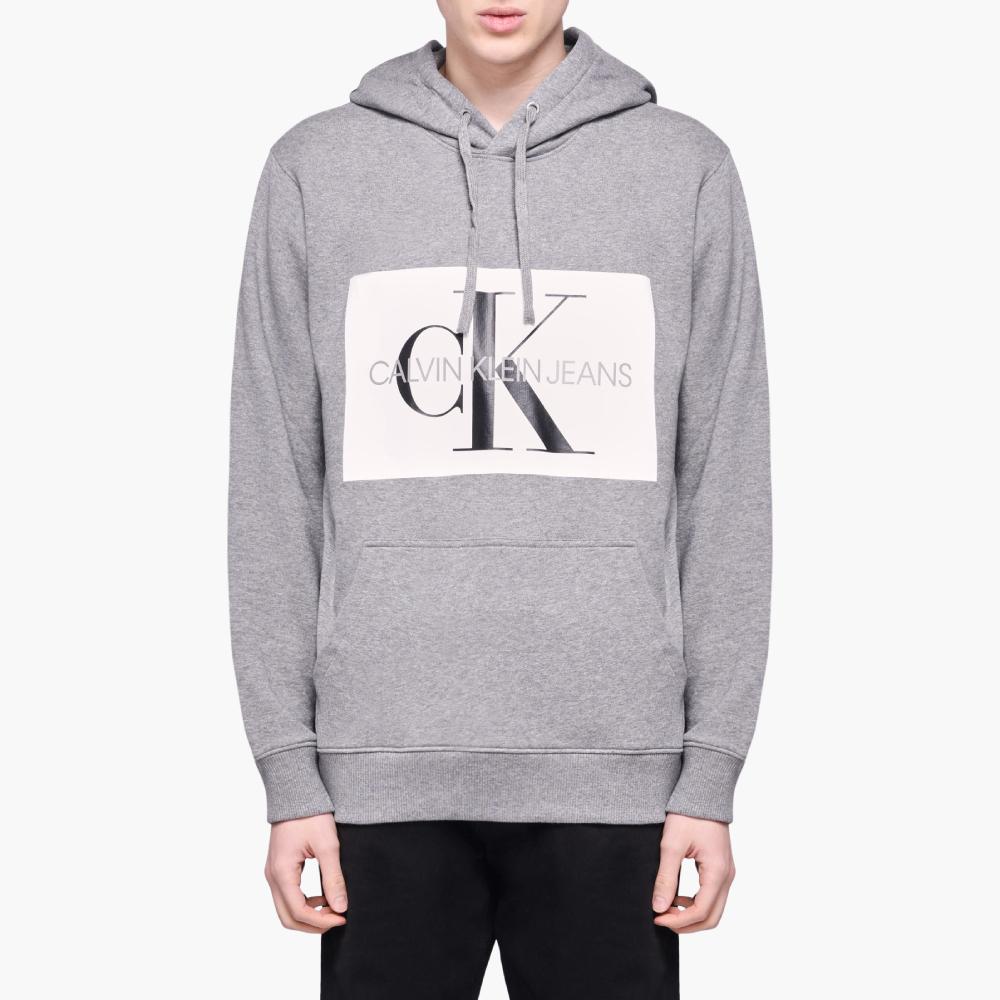 Calvin Klein pánská šedá mikina s kapucí Hoodie - L (901)