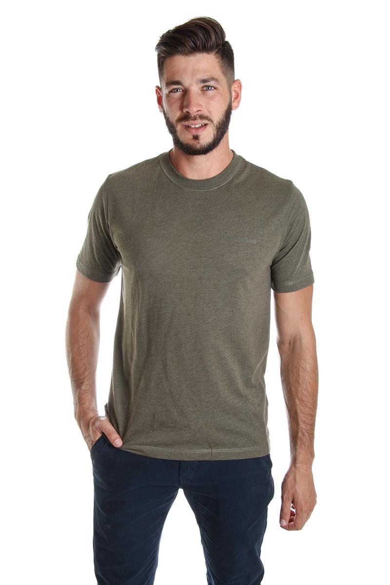 Levně Calvin Klein pánské zelené tričko Embro - M (371)