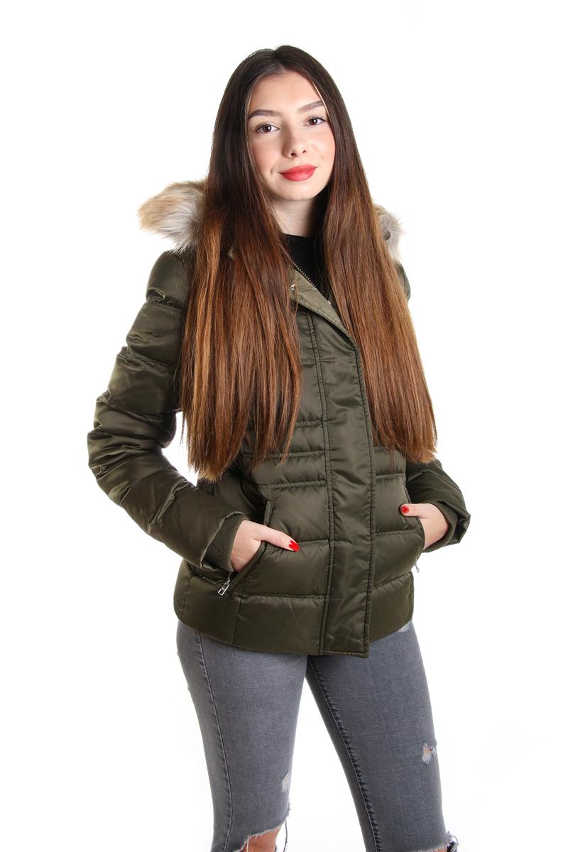 Calvin Klein dámská khaki zimní bunda