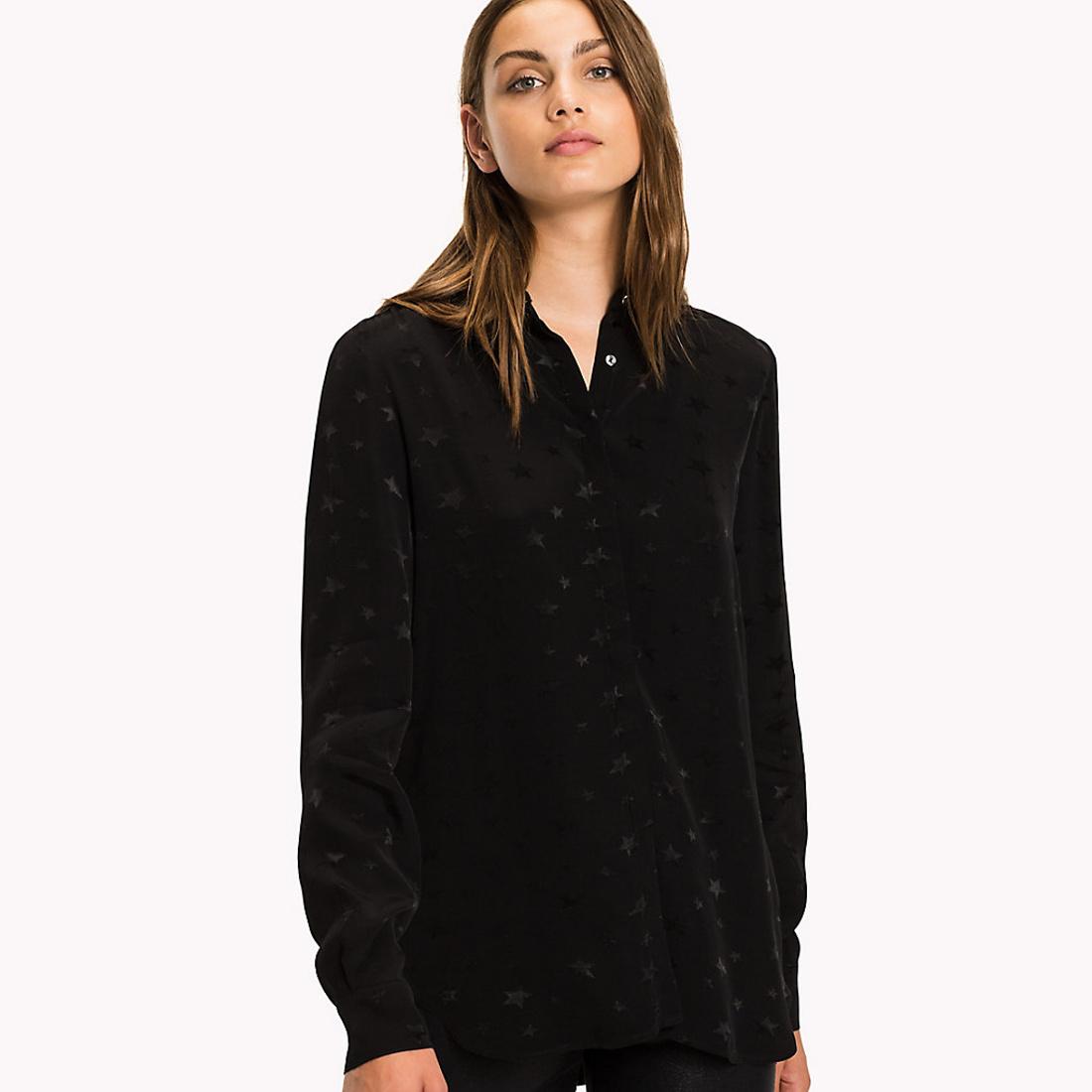Tommy Hilfiger dámská černá košile se vzorem - Mode.cz ac3ec14e20