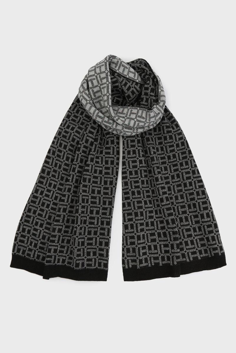 Tommy Hilfiger dámská černá šála Monogram - Mode.cz d46e778017