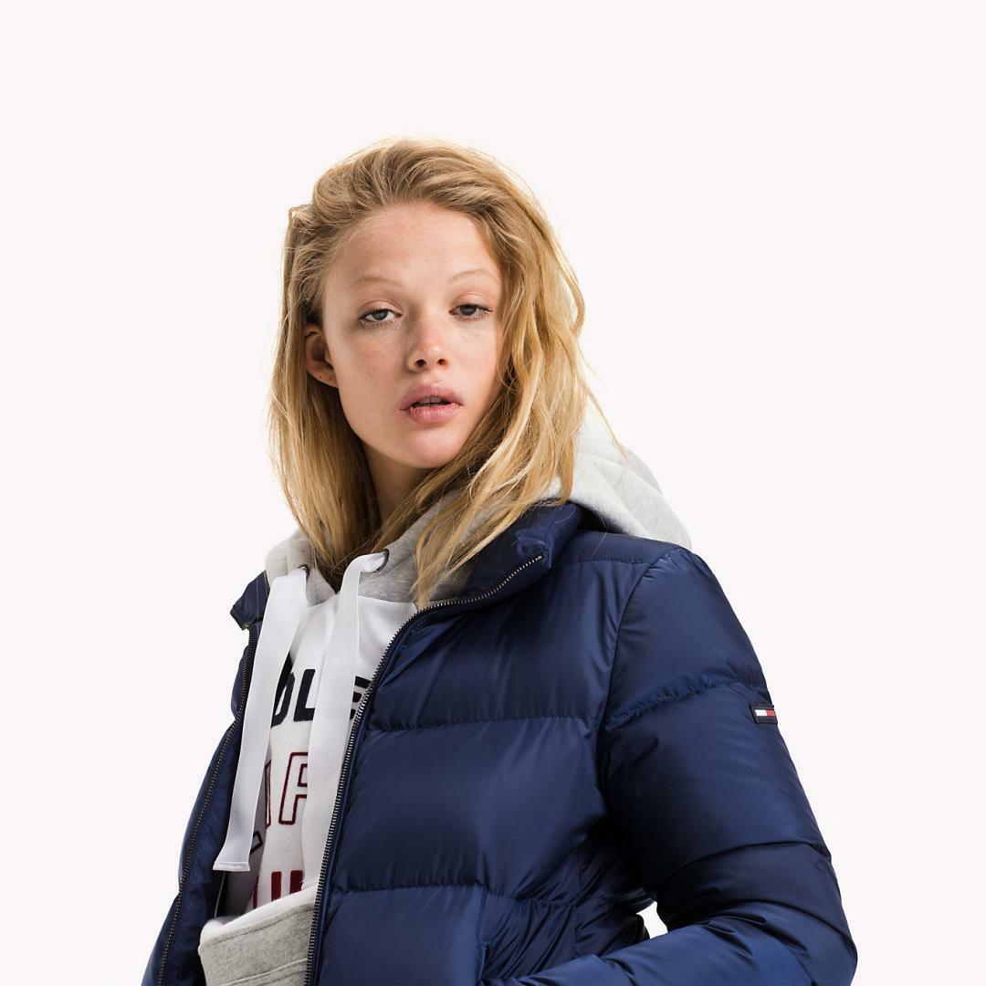 Tommy Hilfiger dámská modrá péřová bunda - Mode.cz 781c843c0cd