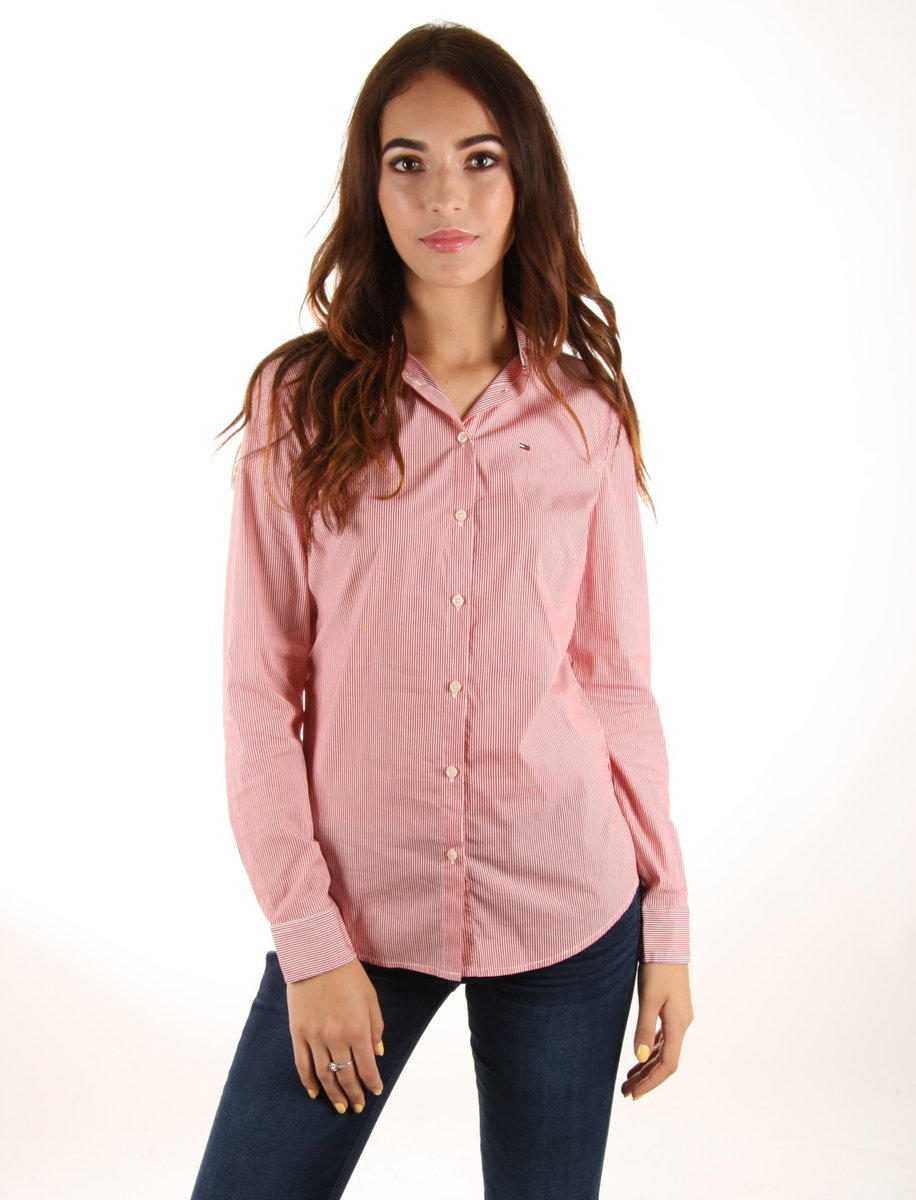 Levně Tommy Hilfiger dámská pruhovaná košile Slim