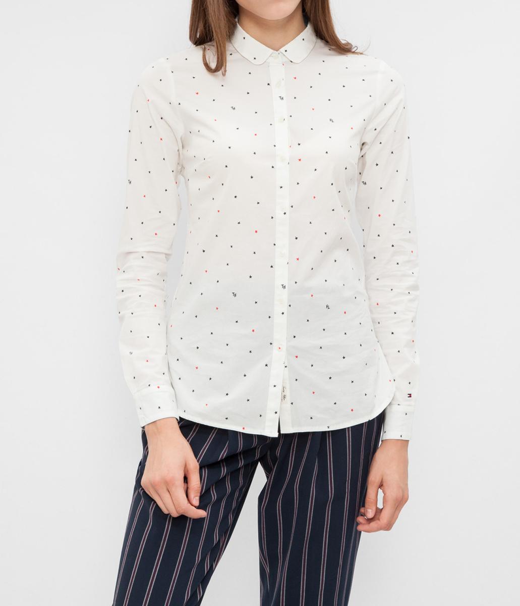 Tommy Hilfiger dámská smetanová košile se vzorem - Mode.cz 3c643af8dd