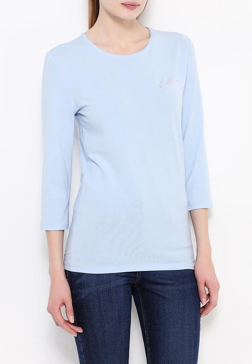 Tommy Hilfiger dámské světle modré tričko Lizzy - L (412)