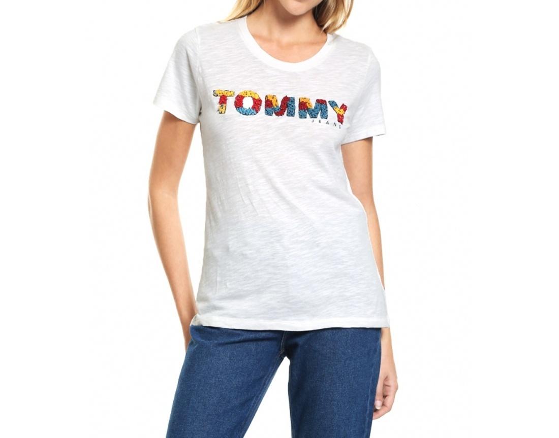 3e6fc3148 Tommy Hilfiger dámské smetanové tričko - Mode.cz