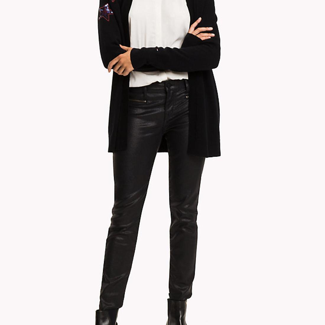 Tommy Hilfiger dámské černé lesklé džíny