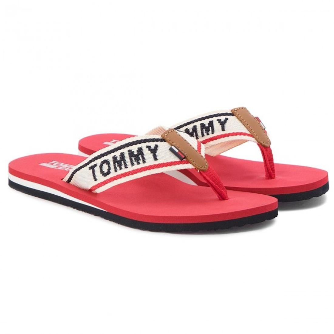 Tommy Hilfiger dámské červené žabky Beach - Mode.cz eac4742fa14