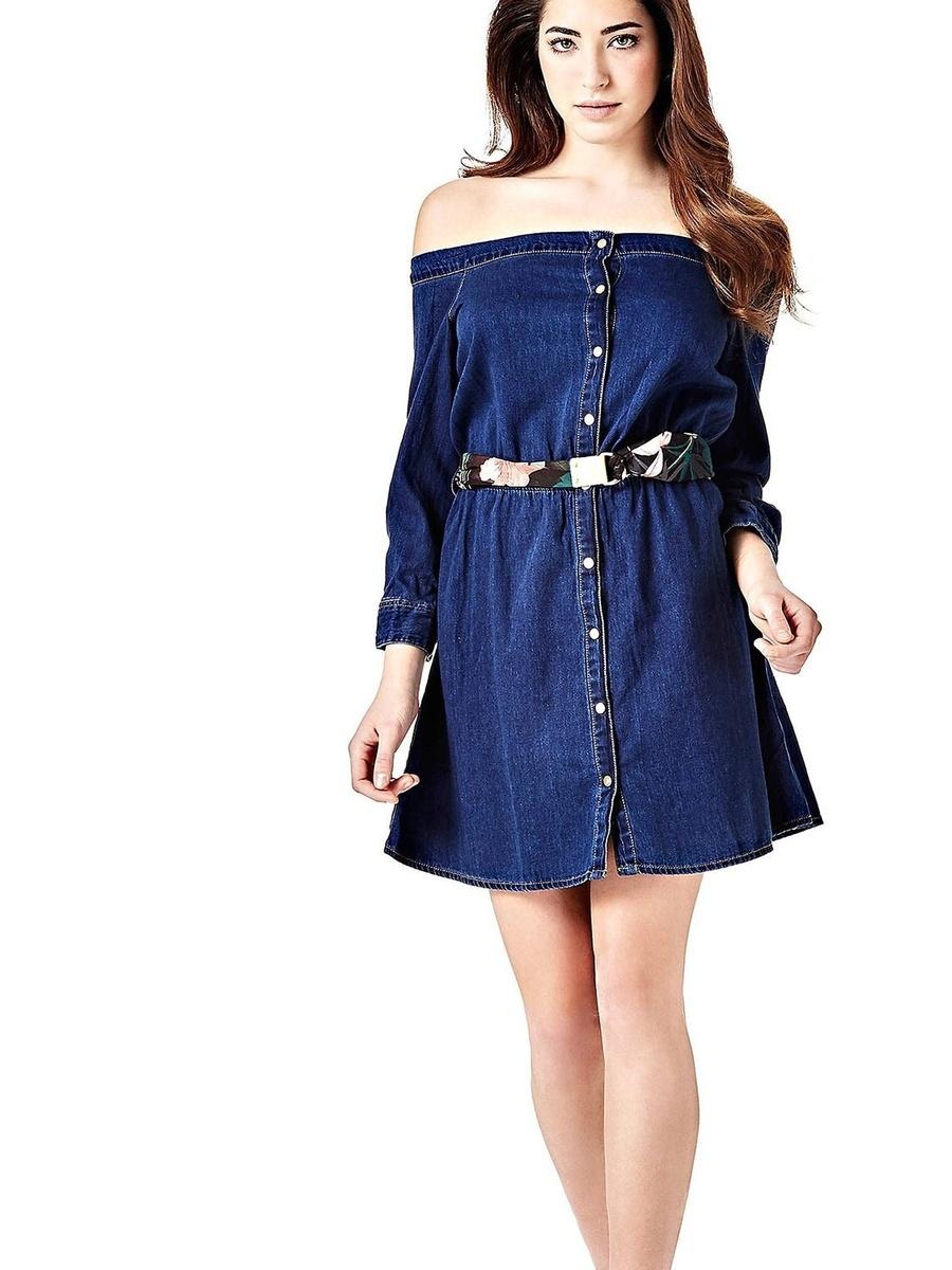Guess dámské modré šaty Naomi - Mode.cz b57773bf89b