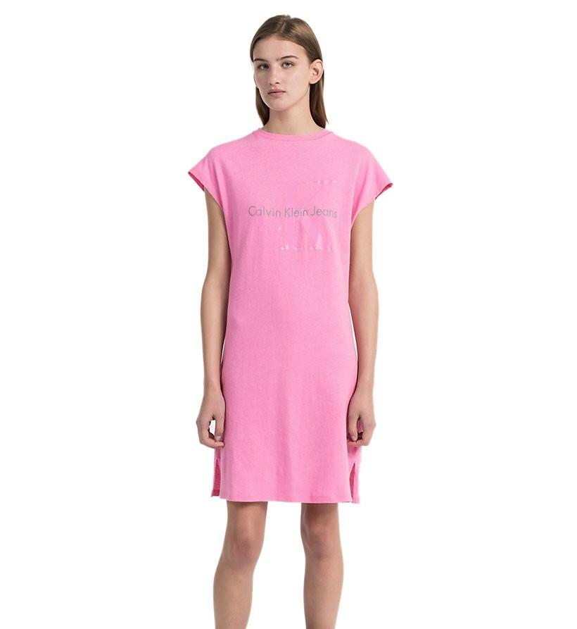 77c863a6cb Calvin Klein dámské růžové šaty Doon - Mode.cz