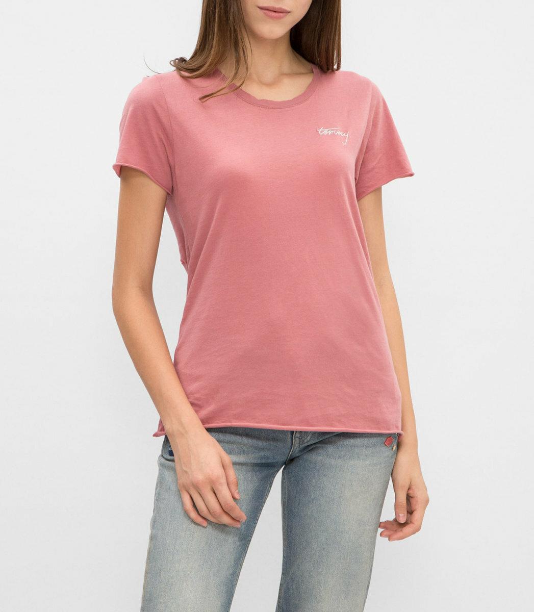 Tommy Hilfiger dámské růžové tričko - Mode.cz 698c87975de