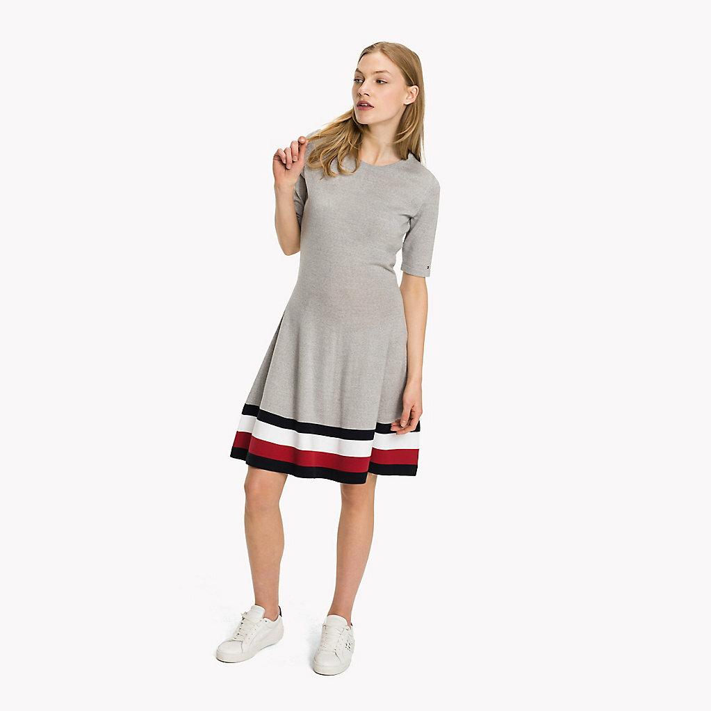30f07af112 Tommy Hilfiger dámské šedé šaty Adana