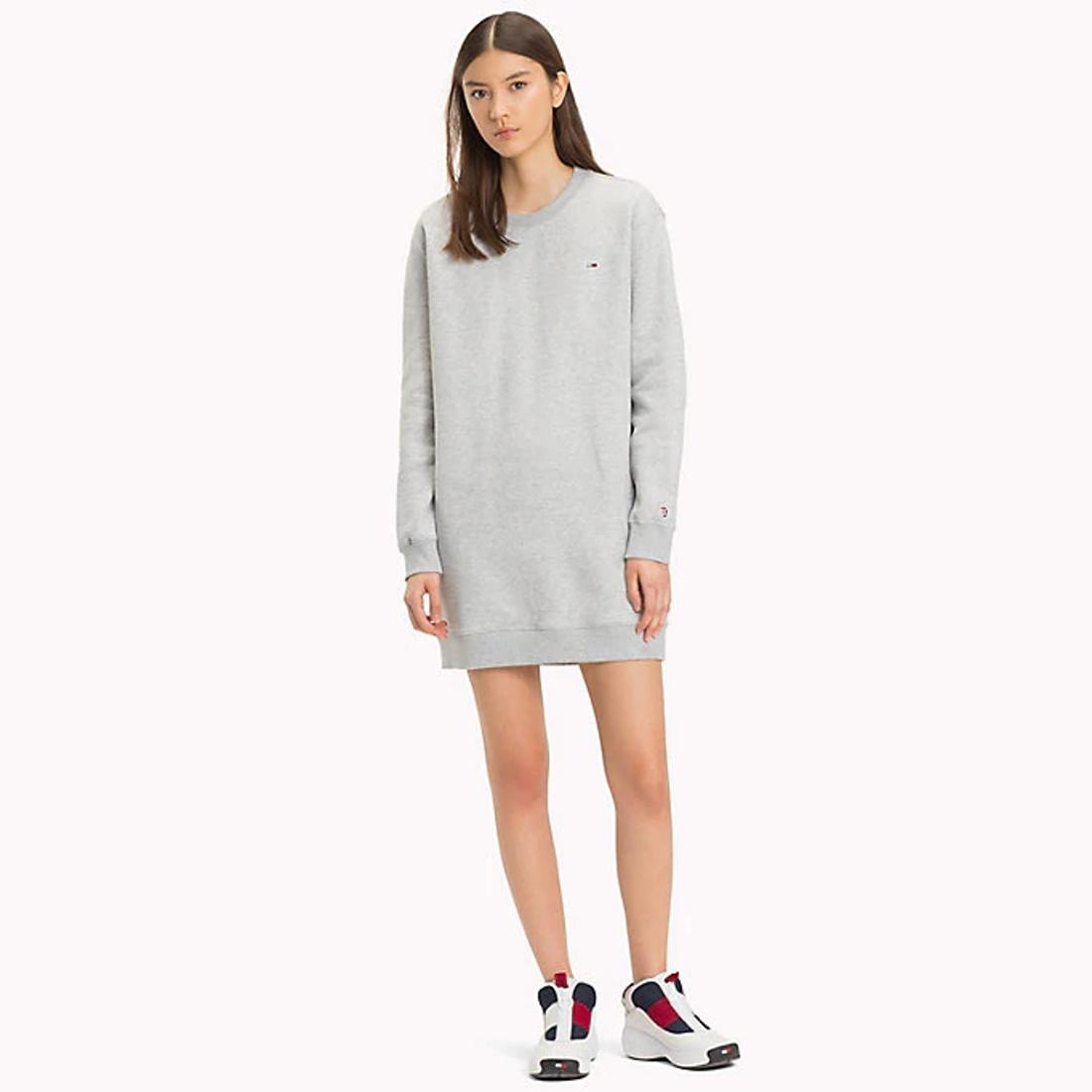 d97cbb948a46 Tommy Hilfiger dámské šedé šaty Classics