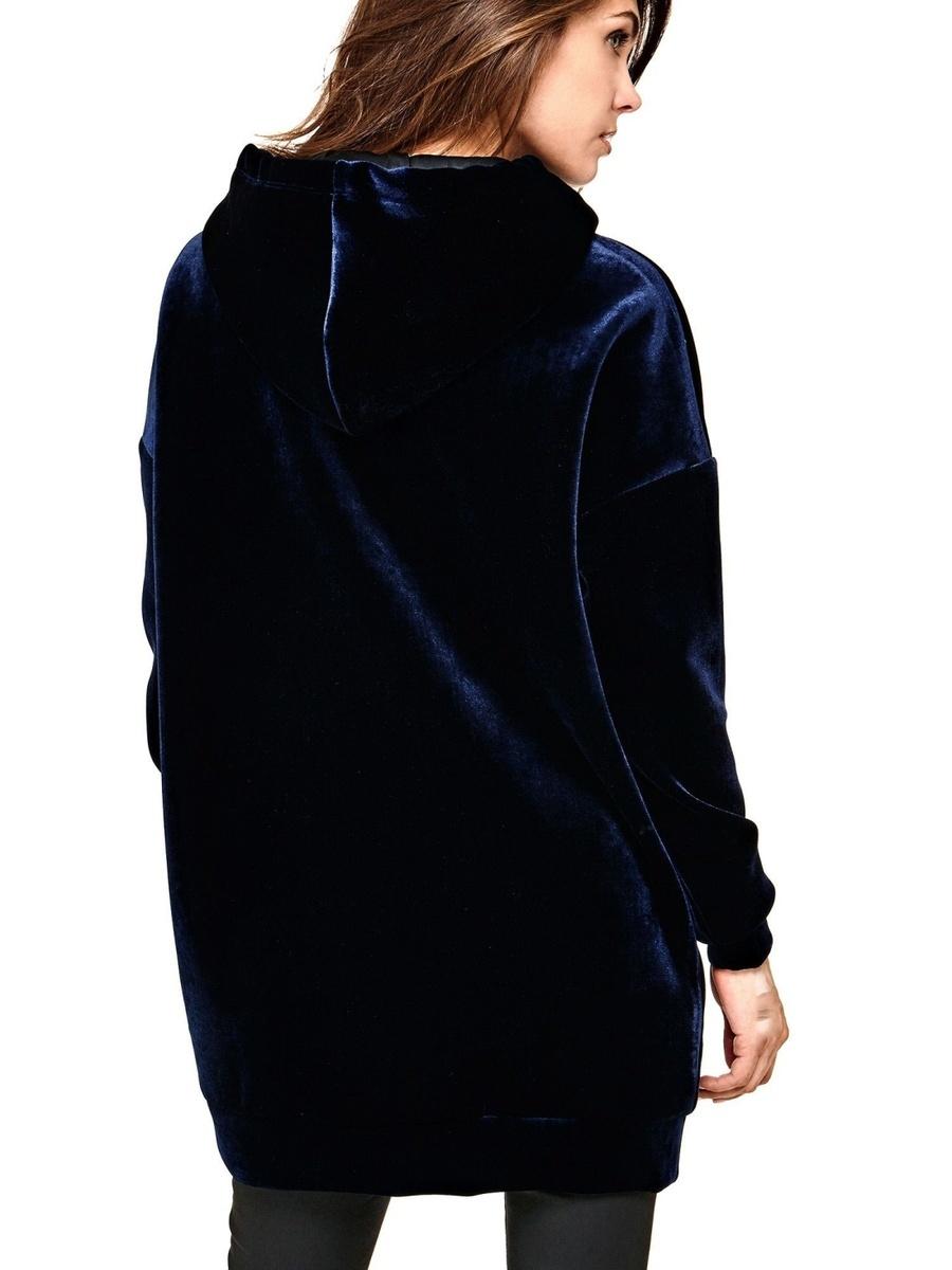 Guess dámské sametové šaty Hoodie - Mode.cz 6de810e992b