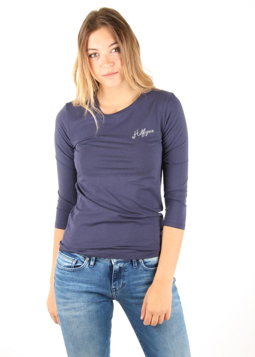 Tommy Hilfiger dámské tmavě modré tričko - M (476)