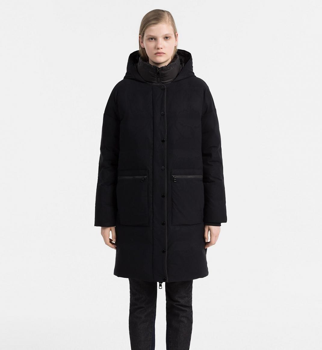 Calvin Klein dámský černý péřový kabát - S (99)