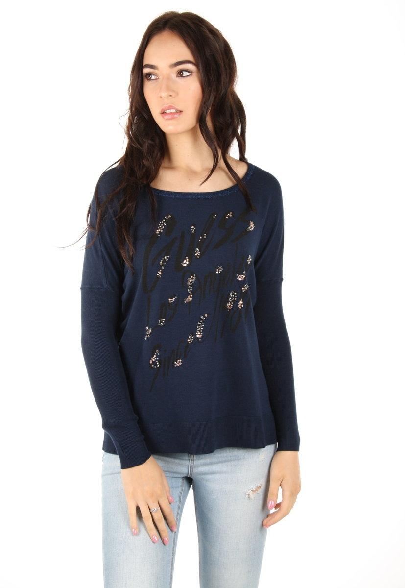 Guess dámský tmavě modrý svetr