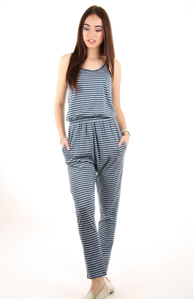 Pepe Jeans dámský modrý pruhovaný overal - XS (0AA)