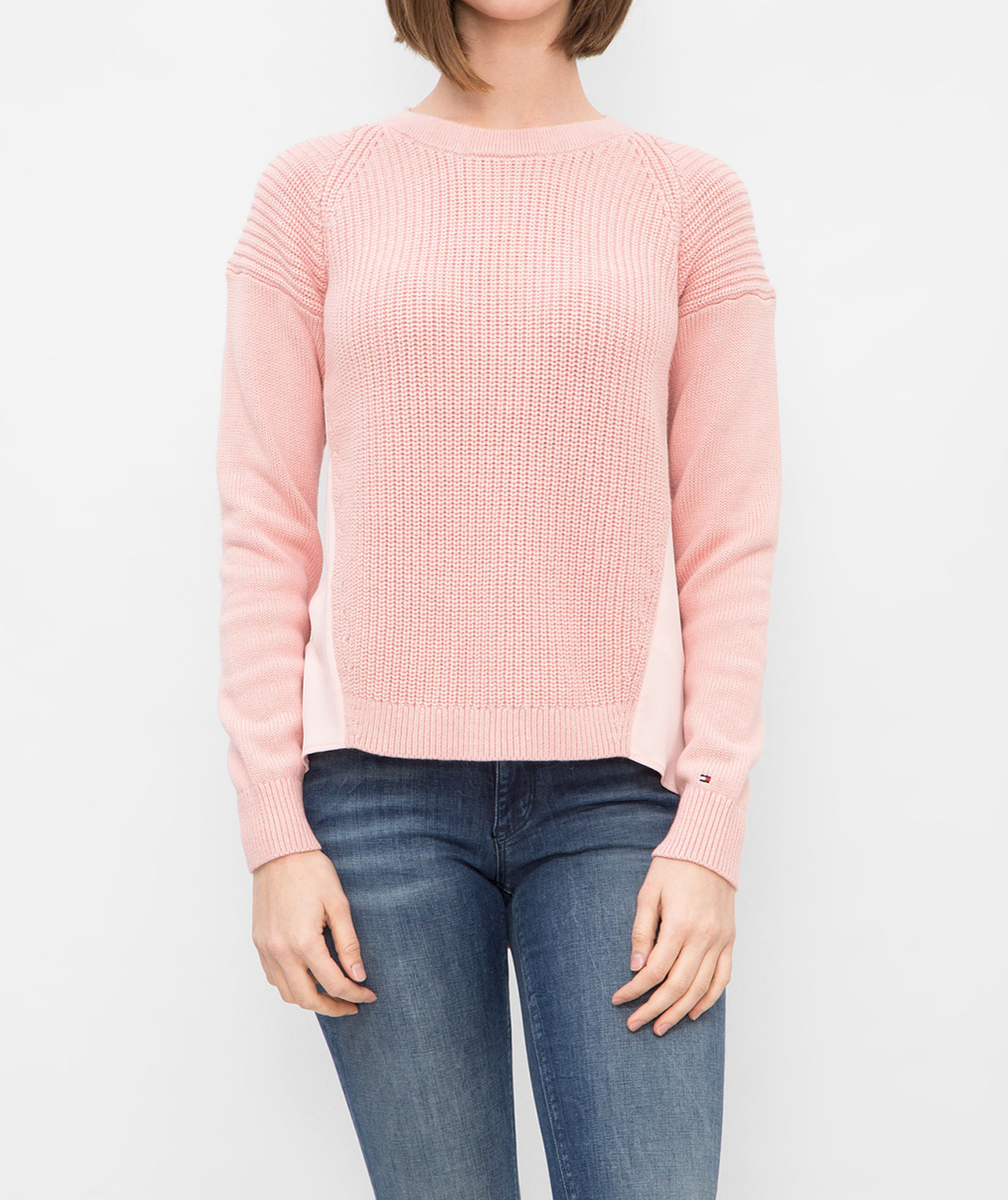 6d918b2e63 Tommy Hilfiger dámský růžový svetr - Mode.cz