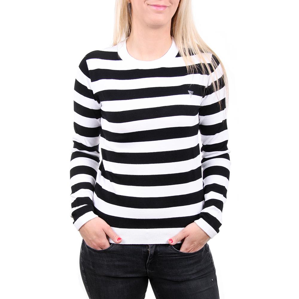 Guess dámský černobílý pruhovaný svetr