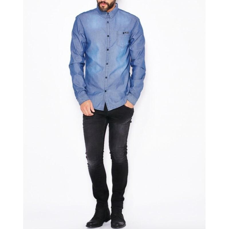 Guess pánská modrá košile - Mode.cz 5d520d26c8